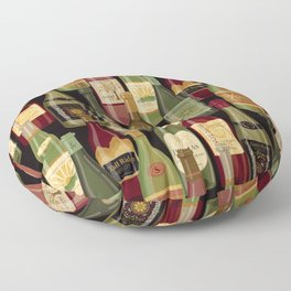Wine Bottles Floor Pillow
