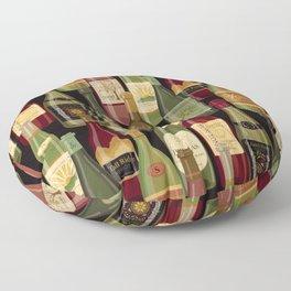 Wine Bottles Floor Pillow