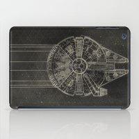 millenium falcon iPad Cases featuring Millennium Falcon by LindseyCowley