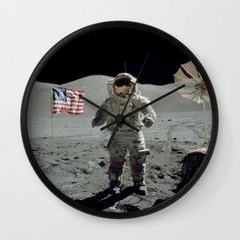 Apollo 17 - Last Man On The Moon Wall Clock