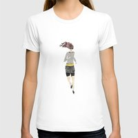 runner T-shirts featuring Runner Girl by Bari J.