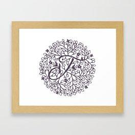 J - monogrammed initial J print Framed Art Print