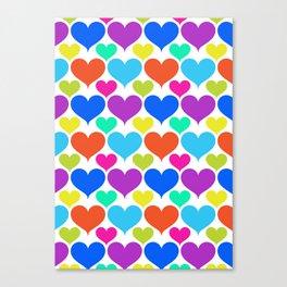 Bright hearts Canvas Print