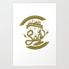 Here Comes The Son (Golden Boy Version) Art Print