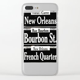 New Orleans French Quarters Clear iPhone Case