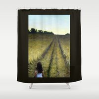 wander Shower Curtains featuring Wander by Michael Paige Glover