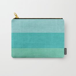 three stripes - teal Carry-All Pouch