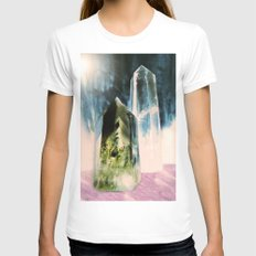 Quartz Points SMALL White Womens Fitted Tee
