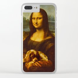 Mona Lisa with Dog Clear iPhone Case