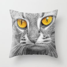 RUSTY SPOTTED CAT Throw Pillow