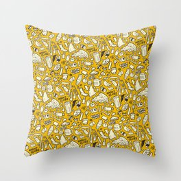 Filthy Lunch Dance Party Throw Pillow