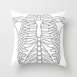 Halloween Costume Skeleton Rib Cage Throw Pillow