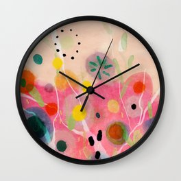 floral power abstract Wall Clock