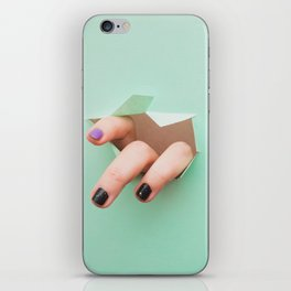 the fingers from the hole iPhone Skin