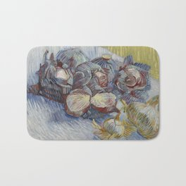 Red Cabbages and Onions Bath Mat