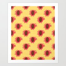 Peaches n Cream Art Print