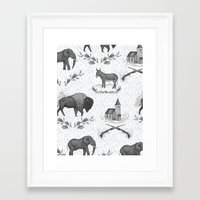 political Framed Art Prints featuring Political Toile by Jessica Roux