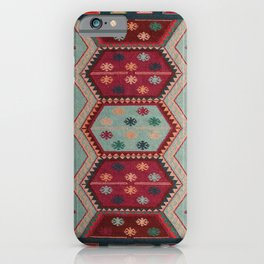 V31 Traditional Colored Moroccan Carpet. iPhone Case