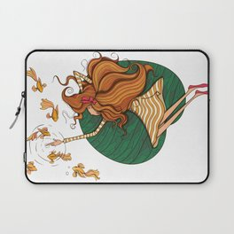 Girl and fish Laptop Sleeve