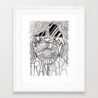 zappa Framed Art Prints featuring Frank Zappa by JeanMar