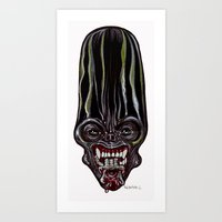 Heads of the Living Dead  Zombies: Alien Queen Zombie Art Print