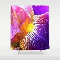 iris Shower Curtains featuring Iris by Robin Curtiss