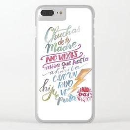 No vas y punto Clear iPhone Case