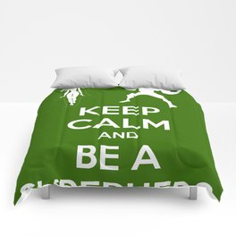 Keep Calm and Be a Superhero Comforters