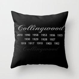 Collingwood Premierships Throw Pillow