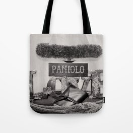 Paniolo Love in Black and White Tote Bag