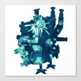 Howl's Fallen Star Canvas Print