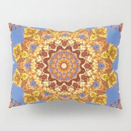 Orange chakra Print, home Meditation art Positive Energy Intention Symbol, Mandala yoga studio leaf Pillow Sham