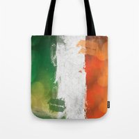 ireland Tote Bags featuring Ireland by Fresh & Poppy