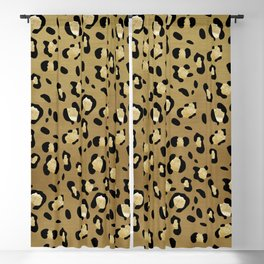 Leopard Animal Print Glam #1 #pattern #decor #art #society6 Blackout Curtain