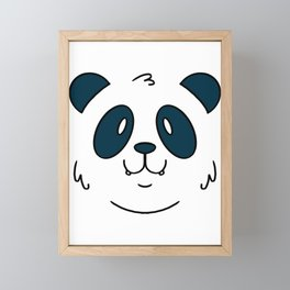 Panda face Framed Mini Art Print