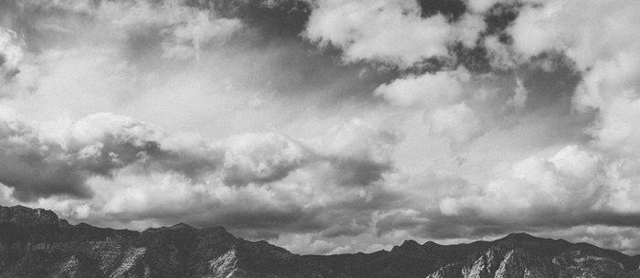 Red Rock Canyon, Las Vegas, Nevada. Mountain Black and White Photograph Coffee Mug