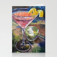 martini Stationery Cards featuring Martini by Michael Creese
