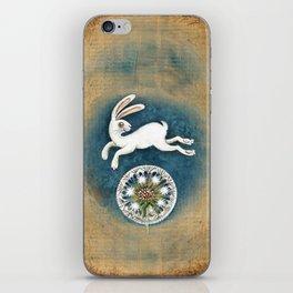 Rabbit with dandelion iPhone Skin