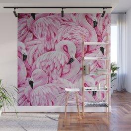 flamingo pattern Wall Mural