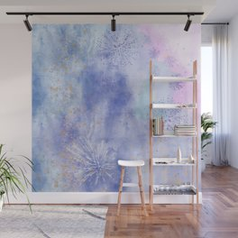 Abstract Distraction, Pink, Purple, Blue Wall Mural