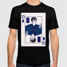 Ten of Tardis MEDIUM Black Mens Fitted Tee