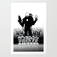 MR.Freeze Art Print