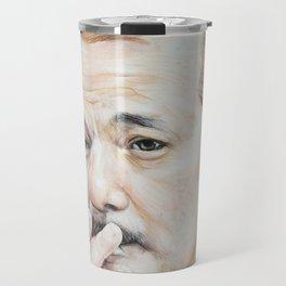Bill Murray Smoking - Rushmore Travel Mug