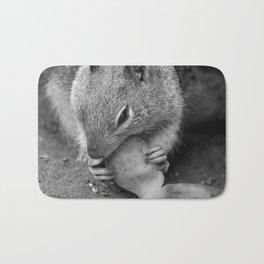 Squirrel eating - cute Bath Mat