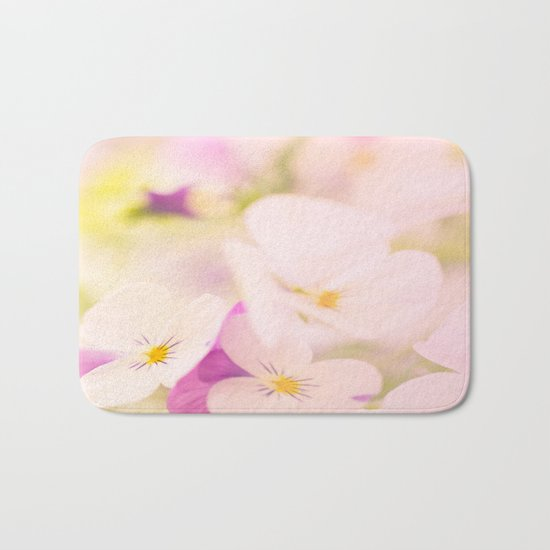 Something delicious and soft - violets in pastel colors - #Society6 #buyart Bath Mat