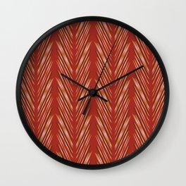 Wheat Grass Terra Cota Wall Clock