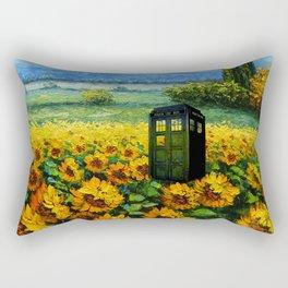 tardis  in the flower garden Rectangular Pillow