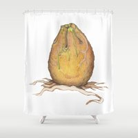 egg Shower Curtains featuring Egg by Joey Wall