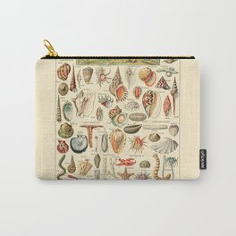 Seashell Diagram // Mollusques by Adolphe Millot 19th Century Science Textbook Artwork Carry-All Pouch