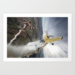 Aerobatic duel Art Print